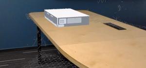 Tenkodiskový laserový systém Perla 100 zasazený do reálného prostředí pomocí AR