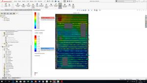 Komplexní analýza přenosu tepla a proudění kapaliny v chladicích kanálech laserového boxu